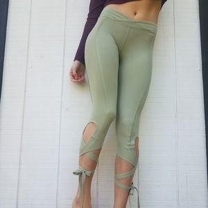 Free People Zen Turnout Leggings With Ties NWOT XS